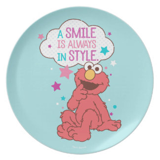 Elmo   A Smile is Always in Style Plate