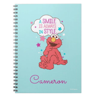 Elmo | A Smile is Always in Style Spiral Notebook