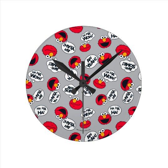 Elmo | Aw Yeah, Awesome Pattern Clocks