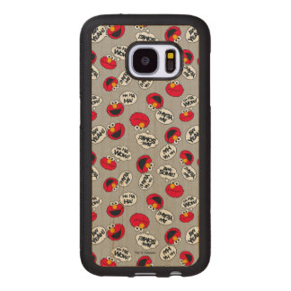 Elmo | Aw Yeah, Awesome Pattern Wood Samsung Galaxy S7 Case