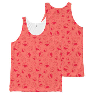 Elmo | Awesome Red Pattern All-Over-Print Tank Top