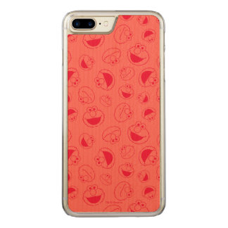 Elmo | Awesome Red Pattern Carved iPhone 8 Plus/7 Plus Case