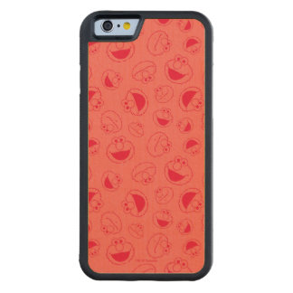 Elmo | Awesome Red Pattern Carved Maple iPhone 6 Bumper Case