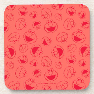 Elmo   Awesome Red Pattern Coaster