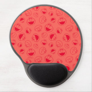 Elmo | Awesome Red Pattern Gel Mouse Pad