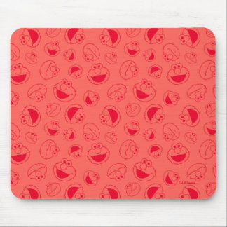 Elmo | Awesome Red Pattern Mouse Pad