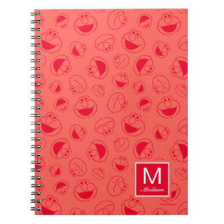 Elmo | Awesome Red Pattern Notebook