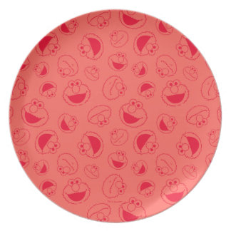 Elmo   Awesome Red Pattern Plate