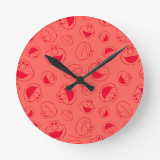 Elmo | Awesome Red Pattern Round Clock