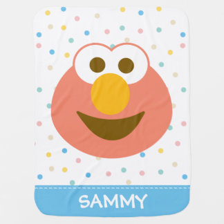 Elmo Baby Big Face | Add Your Name Baby Blanket
