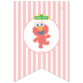 Elmo | Baby's First Birthday Bunting Flags