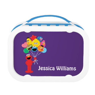 Elmo Balloons | Add Your Name Lunch Boxes