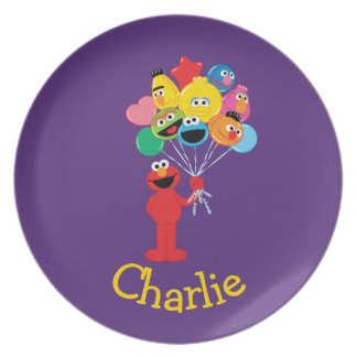 Elmo Balloons | Add Your Name Party Plates