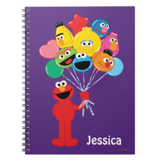 Elmo Balloons | Add Your Name Spiral Notebook