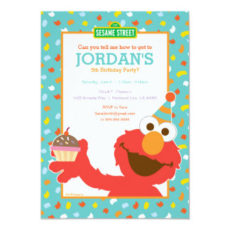 "Elmo Birthday 5"" X 7"" Invitation Card"
