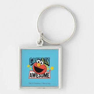 Elmo Captain Comic Silver-Colored Square Keychain