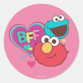 Elmo & Cookie Monster - BFF Classic Round Sticker