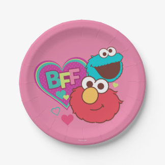 Elmo & Cookie Monster - BFF Paper Plate