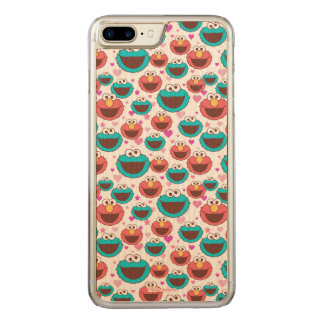 Elmo & Cookie Monster | Peace & Love Pattern Carved iPhone 8 Plus/7 Plus Case