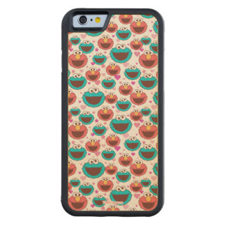 Elmo & Cookie Monster | Peace & Love Pattern Carved Maple iPhone 6 Bumper Case