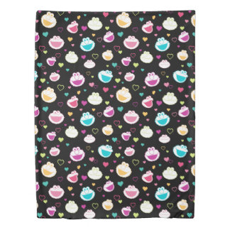 Elmo & Cookie Monster | Sweet Stuff Heart Pattern Duvet Cover