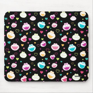 Elmo & Cookie Monster | Sweet Stuff Heart Pattern Mouse Pad
