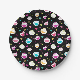 Elmo & Cookie Monster   Sweet Stuff Heart Pattern Paper Plate