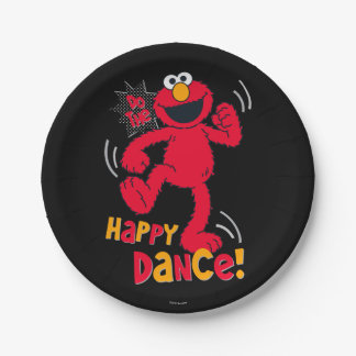 Elmo   Do the Happy Dance 7 Inch Paper Plate