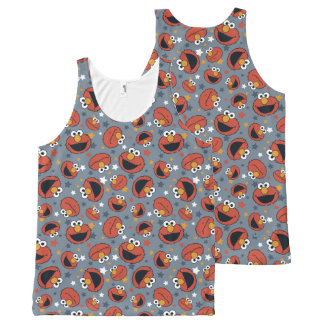 Elmo | Elmo Rules Star Pattern All-Over-Print Tank Top