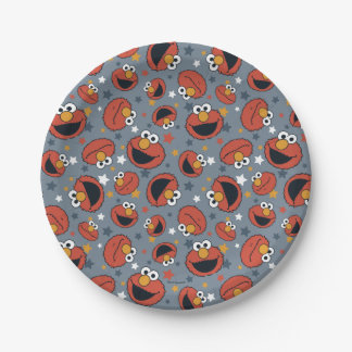 Elmo | Elmo Rules Star Pattern Paper Plate