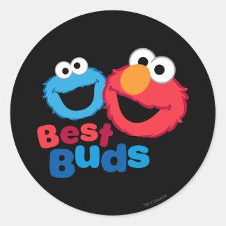 Elmo et biscuit Besties Sticker Rond
