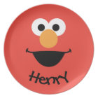 Elmo Face Art   Add Your Name Plate