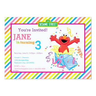 Elmo Girl's Birthday Card