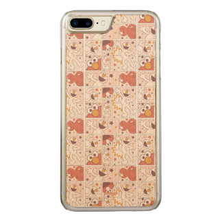 Elmo | Happy Little Monster Comic Pattern Carved iPhone 8 Plus/7 Plus Case