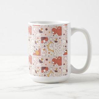 Elmo | Happy Little Monster Comic Pattern Coffee Mug