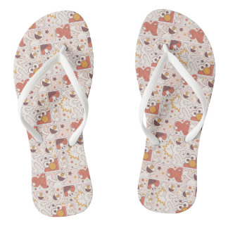 Elmo | Happy Little Monster Comic Pattern Flip Flops
