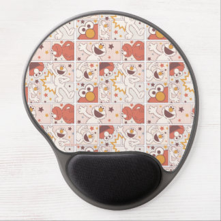 Elmo | Happy Little Monster Comic Pattern Gel Mouse Pad