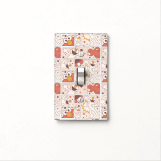 Elmo | Happy Little Monster Comic Pattern Light Switch Cover