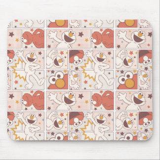 Elmo | Happy Little Monster Comic Pattern Mouse Pad