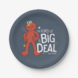 Elmo   I'm Kind of a Big Deal Paper Plate