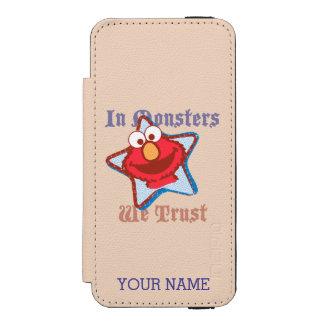 Elmo - In Monsters We Trust | Add Your Name Incipio Watson™ iPhone 5 Wallet Case