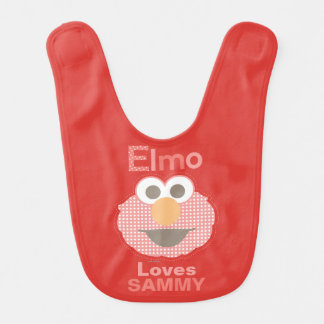 Elmo Loves You | Add Your Name Baby Bibs