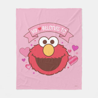 Elmo | My Heart Belongs To Elmo Fleece Blanket