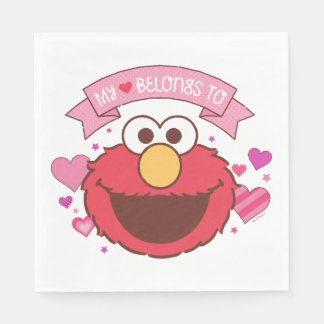 Elmo | My Heart Belongs To Elmo Paper Napkins