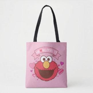 Elmo   My Heart Belongs To Elmo Tote Bag