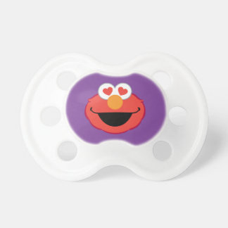 Elmo Smiling Face with Heart-Shaped Eyes Baby Pacifier