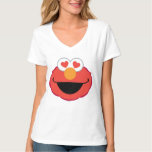 Elmo Smiling Face with Heart-Shaped Eyes T Shirt