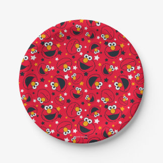 Elmo   So Silly Star Pattern Paper Plate