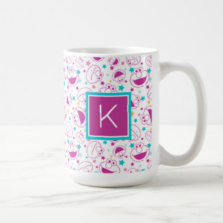 Elmo | Sweet & Cute Star Pattern | Monogram Coffee Mug