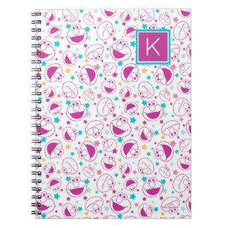 Elmo | Sweet & Cute Star Pattern | Monogram Spiral Notebook